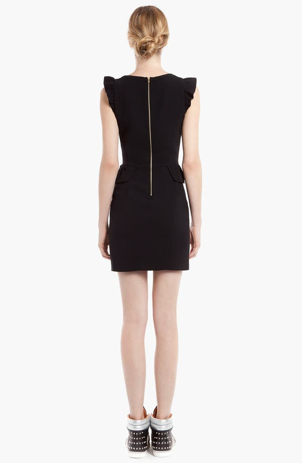 Alternate Image 2  - sandro 'Resonance' Ruffle Sheath Dress