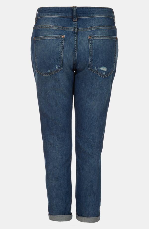 Alternate Image 2  - Topshop Moto 'Lacey' Boyfriend Jeans (Midstone) (Petite)