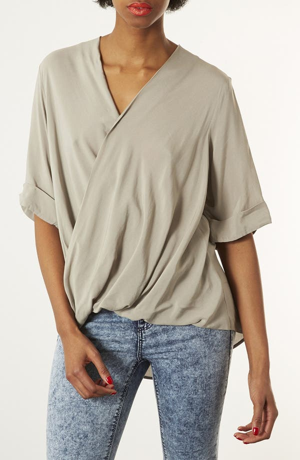 Alternate Image 1 Selected - Topshop Draped Surplice Top