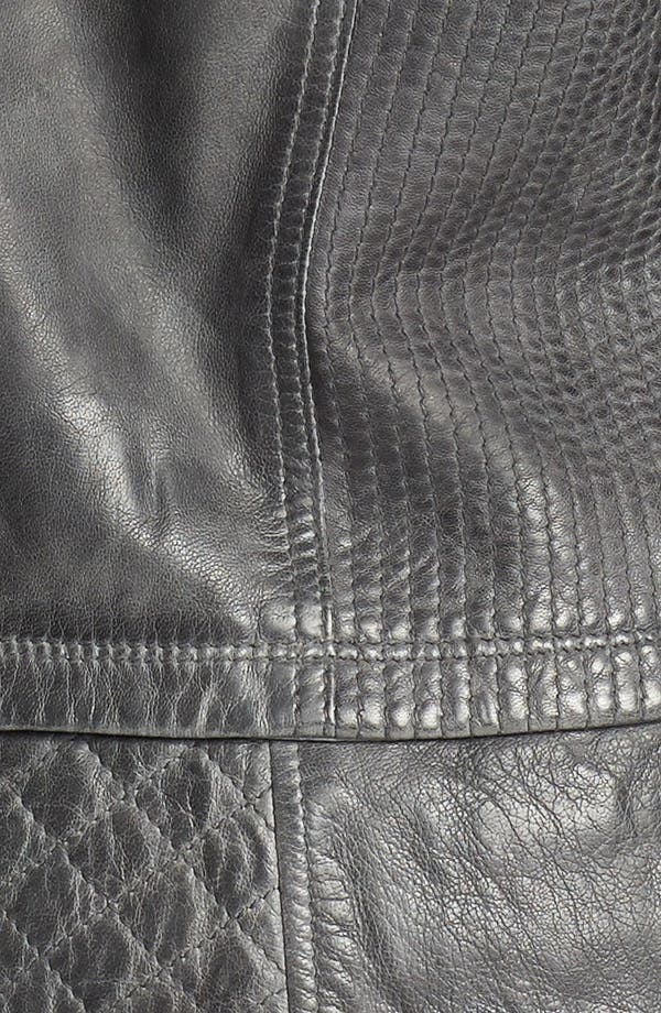 Alternate Image 3  - Bernardo Quilt Trim Leather Scuba Jacket (Plus Size)