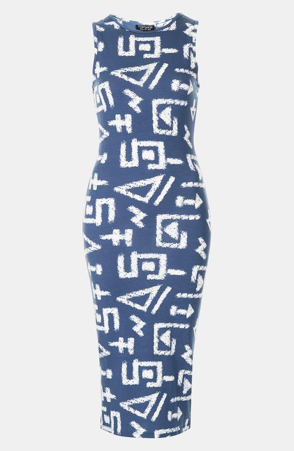 Alternate Image 3  - Topshop 'Egypt Graffiti' Print Midi Tank Dress