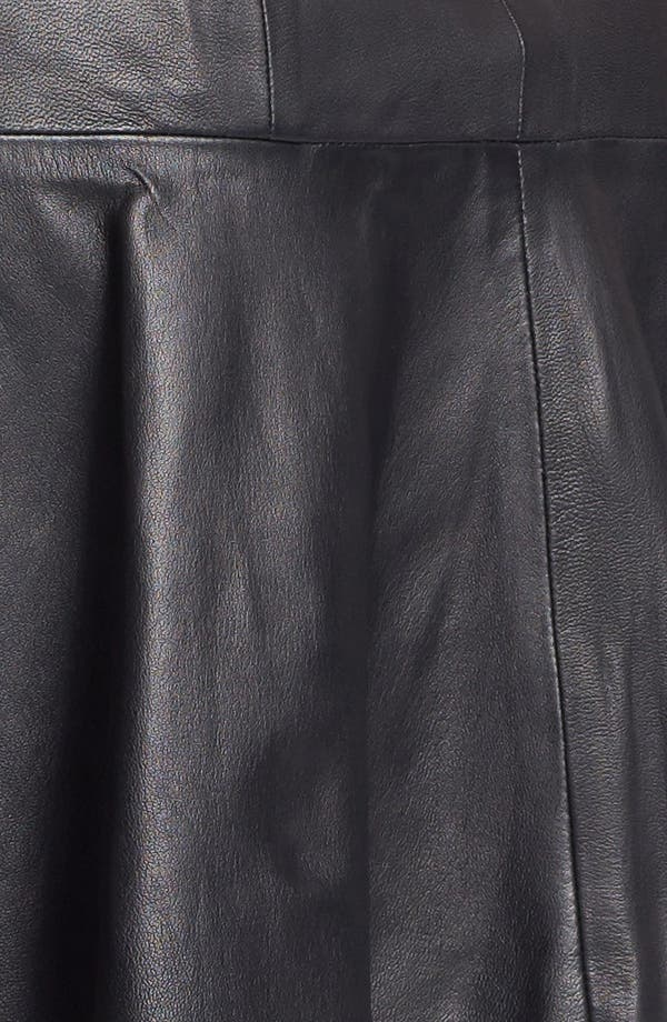 Alternate Image 3  - Rebecca Taylor Leather Skirt