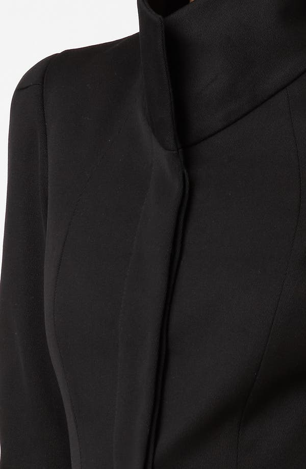 Alternate Image 3  - Alexander McQueen Funnel Neck Stretch Cotton Coat
