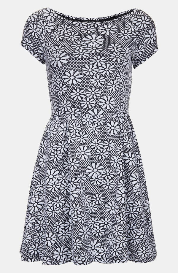 Alternate Image 3  - Topshop Daisy Jacquard Minidress