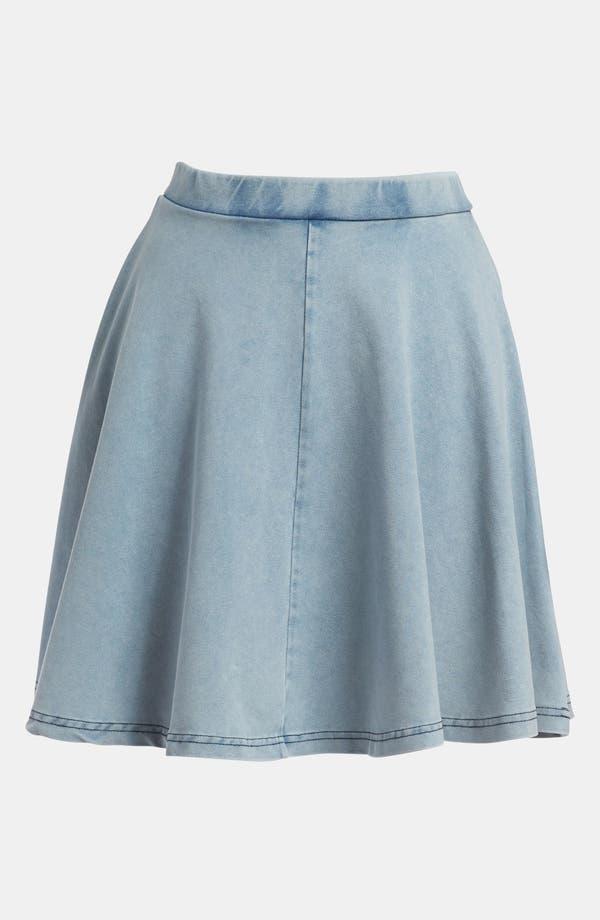 Alternate Image 1 Selected - Topshop 'Andie' Acid Wash Jersey Skater Skirt