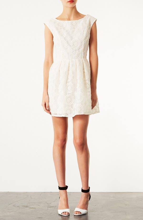 Alternate Image 1 Selected - Topshop Embroidered V-Back Dress