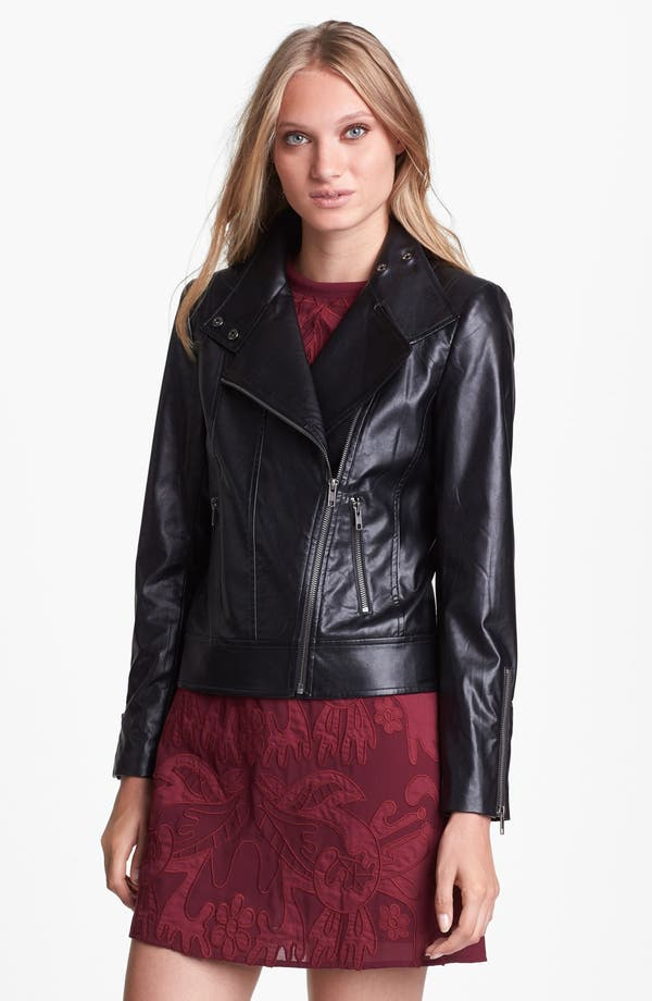 Main Image - Mural Faux Leather Moto Jacket