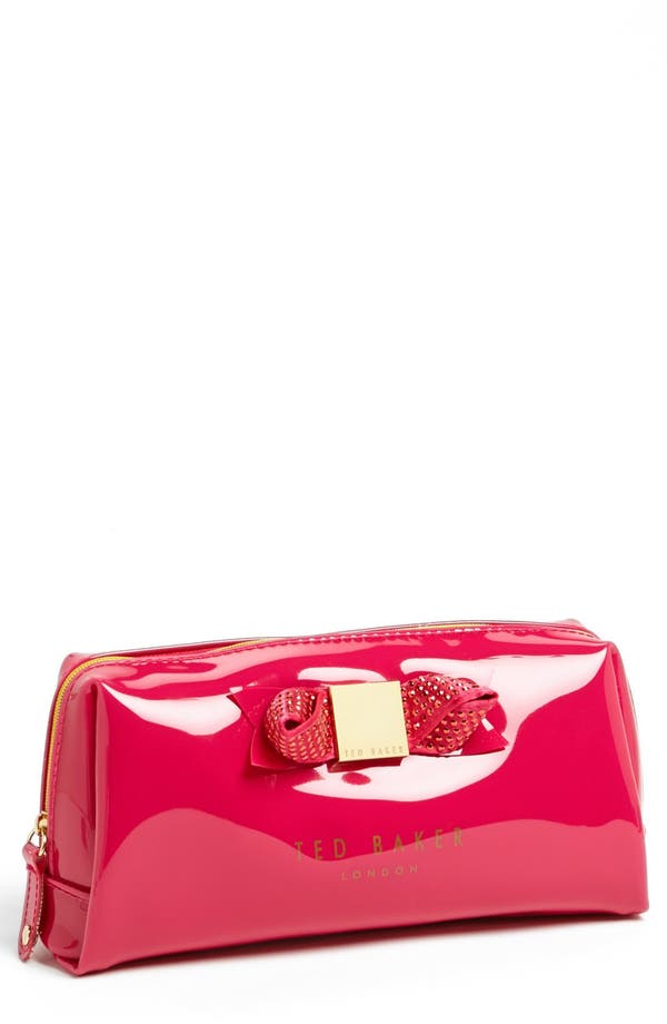 Main Image - Ted Baker London 'Metallic Bow - Large' Cosmetics Case