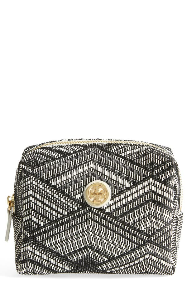 Alternate Image 1 Selected - Tory Burch 'Woven Brigitte' Cosmetics Case