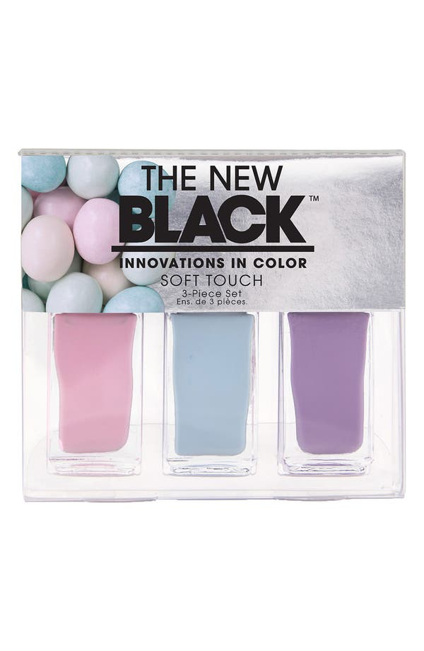 Main Image - THE NEW BLACK 'I Want Candy - Soft Touch' Nail Polish 3-Piece Set