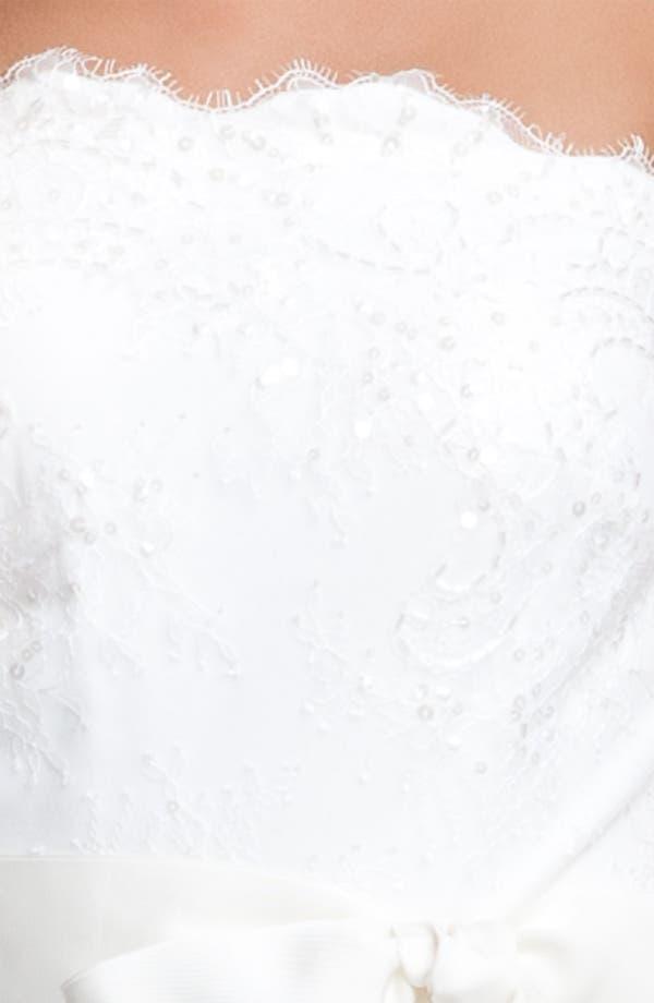 Alternate Image 4  - Tadashi Shoji Strapless Lace Gown