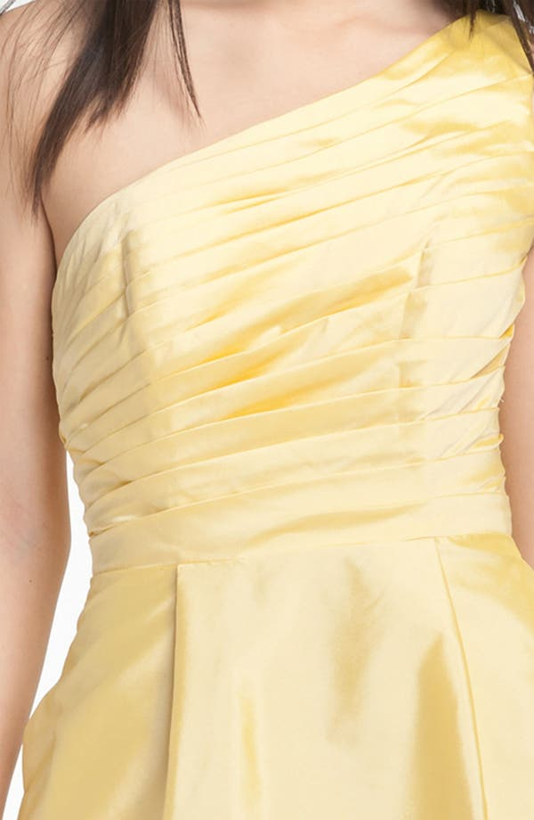 Alternate Image 3  - ML Monique Lhuillier Bridesmaids One Shoulder Taffeta Dress