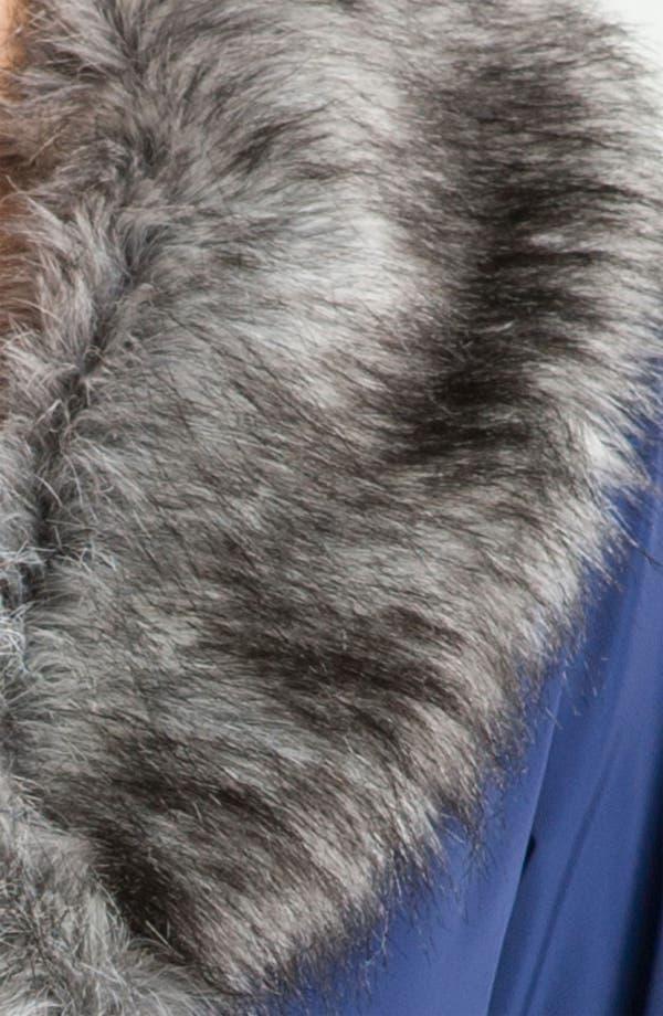 Alternate Image 3  - Betsey Johnson Ruffle Hem Coat with Detachable Collar