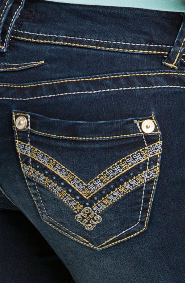 Alternate Image 3  - Artisan Crafted 'Itty Bitty' Bootcut Jeans  (Juniors)