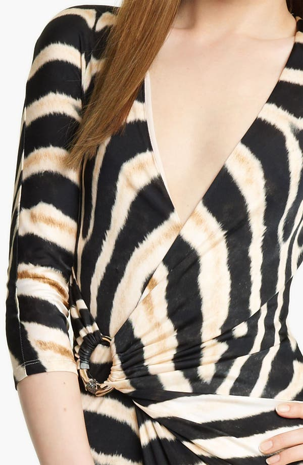 Alternate Image 3  - Roberto Cavalli Zebra Print Jersey Gown