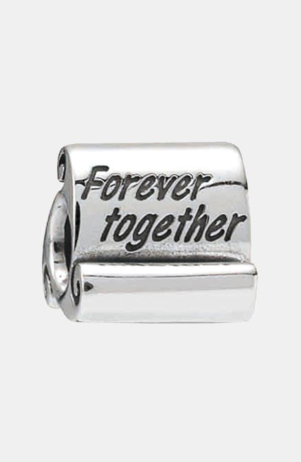 Alternate Image 1 Selected - PANDORA 'Forever Together' Scroll Charm