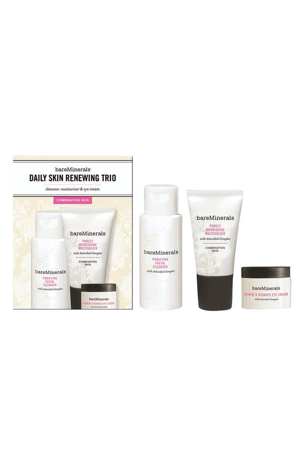 Alternate Image 1 Selected - bareMinerals® 'Daily Skin Renewing Trio' - Combination Skin