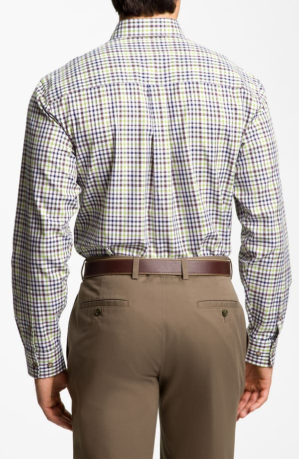 Alternate Image 2  - Cutter & Buck 'Cypress' Plaid Sport Shirt (Big & Tall)