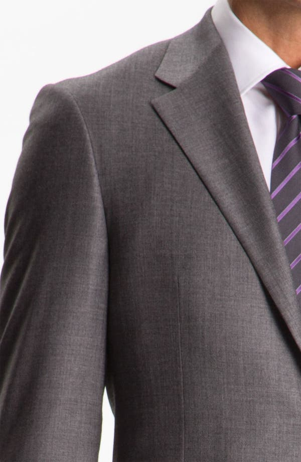 Alternate Image 6  - Hickey Freeman Solid Wool Suit