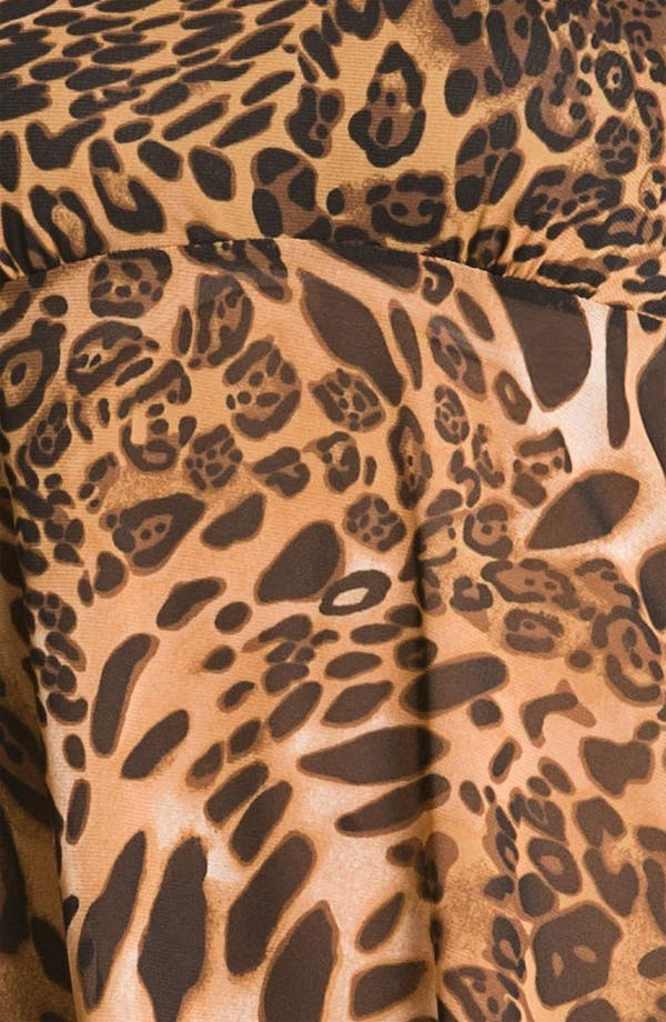 Alternate Image 3  - Betsey Johnson Animal Print Mesh Babydoll & Thong