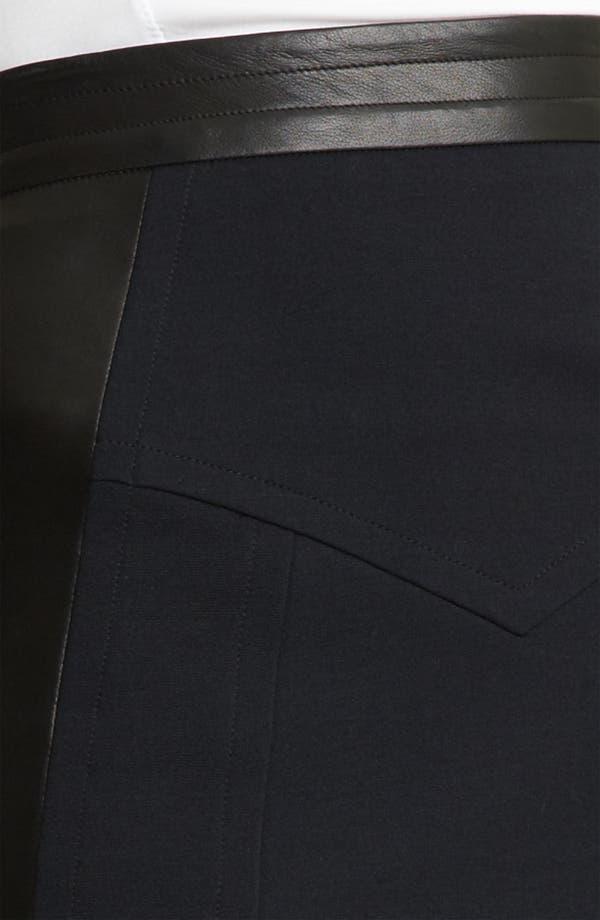 Alternate Image 3  - Yigal Azrouël Leather Panel Ponte Skirt