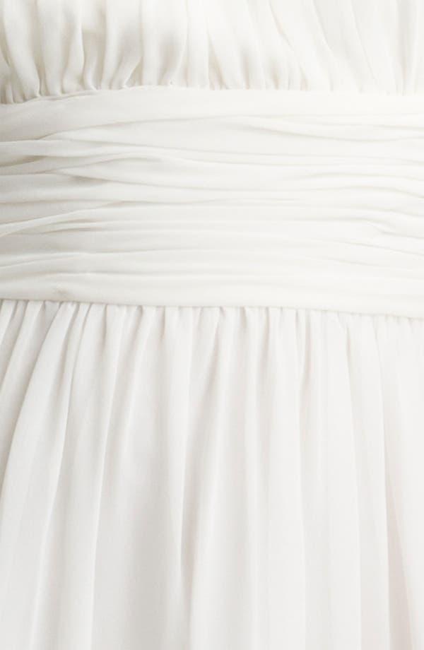 Alternate Image 3  - Maggy London Ruched Chiffon Halter Dress