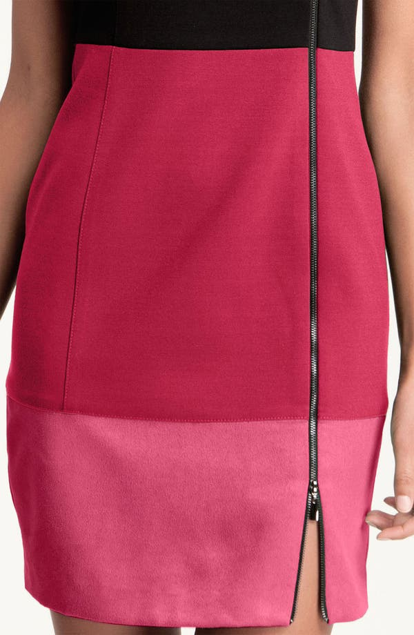 Alternate Image 3  - Laundry by Shelli Segal Colorblock Exposed Zipper Sheath Dress