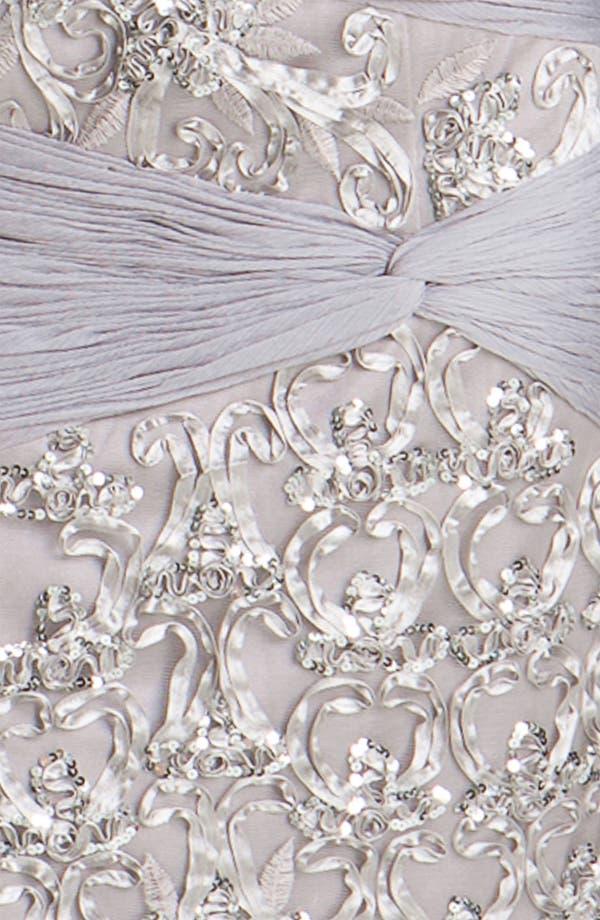Alternate Image 3  - Sue Wong Ruched Chiffon Detail Embellished Sheath Dress