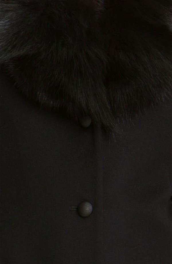 Alternate Image 3  - Fleurette Loro Piana Wool Coat with Genuine Fox Fur (Online Exclusive)