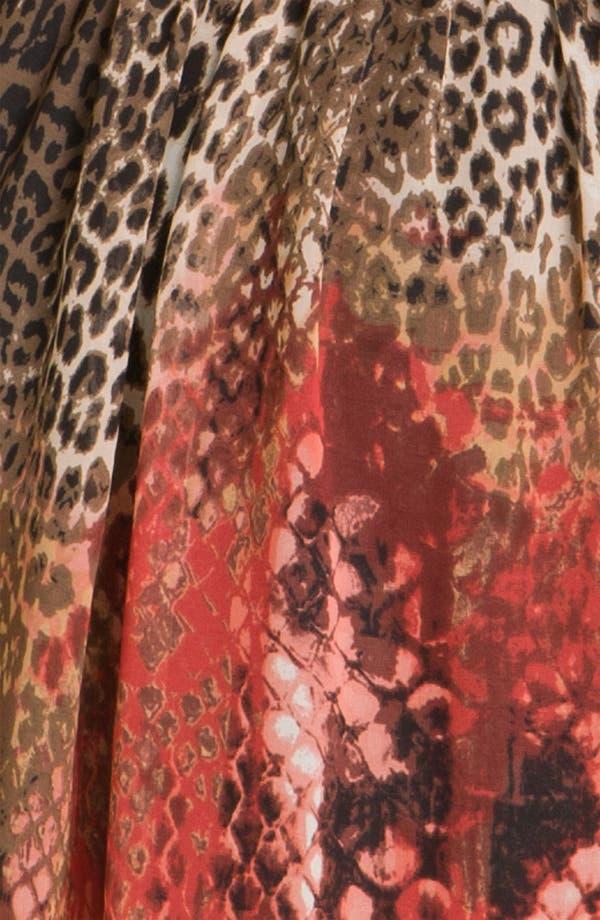 Alternate Image 3  - Donna Ricco Animal Print Surplice Chiffon Dress