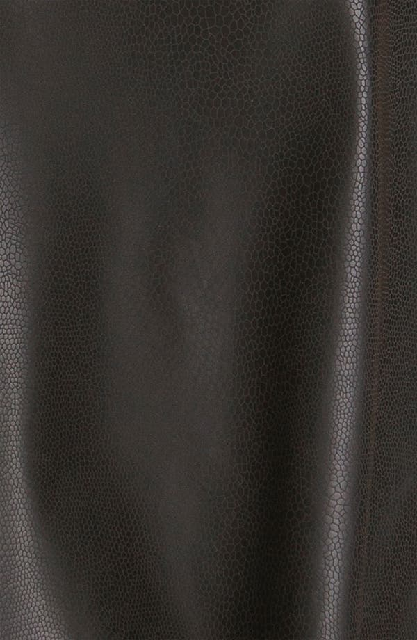 Alternate Image 3  - WallpapHer Faux Leather Tank (Juniors)