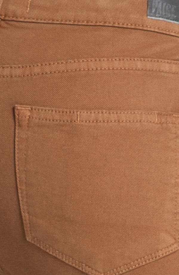 Alternate Image 3  - Paige Denim 'Skyline' Skinny Jeans (Caramel)