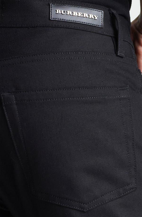 Alternate Image 4  - Burberry London Steadman Fit Straight Leg Jeans (Black Wash)