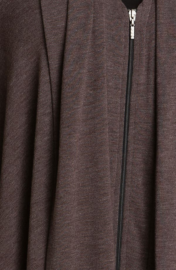 Alternate Image 3  - Three Dots Zip Front Cascade Cardigan (Plus)