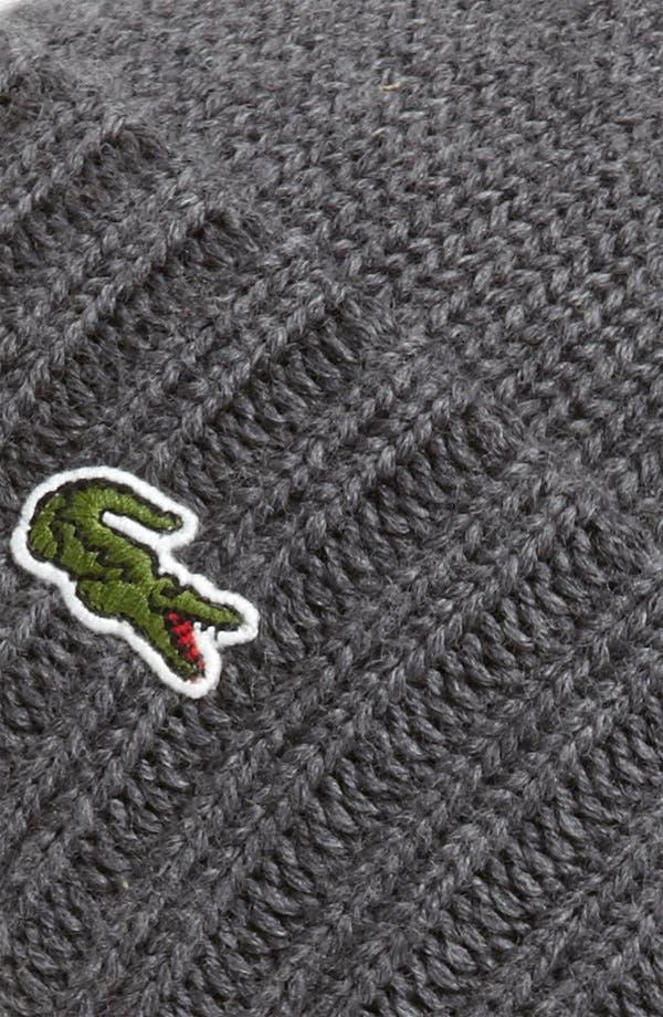 Alternate Image 2  - Lacoste Wool Knit Cap