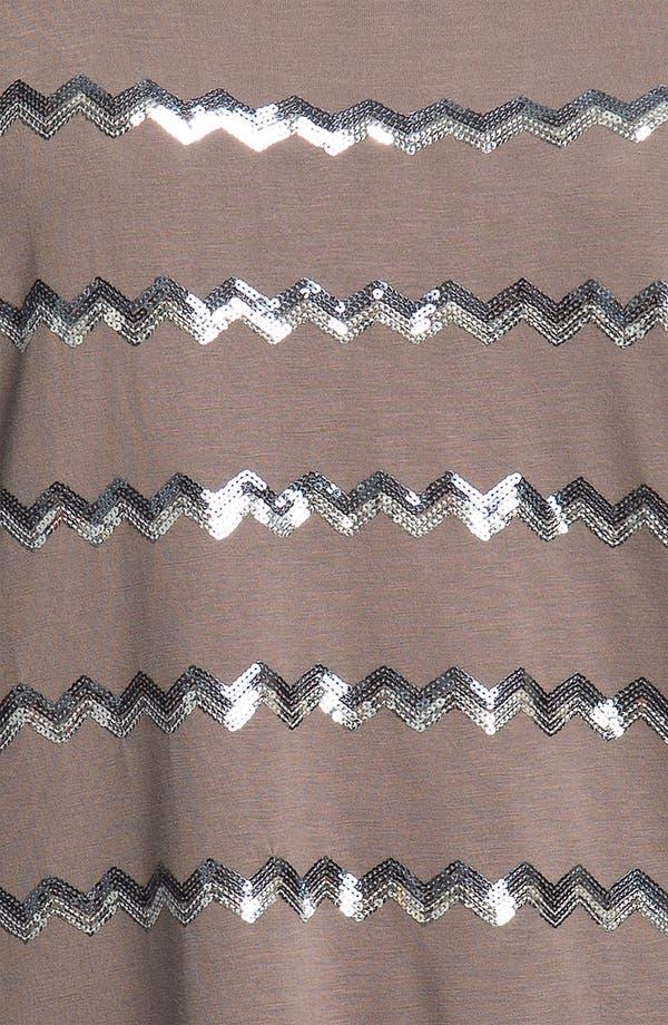 Alternate Image 3  - Kische Zigzag Sequin Top (Plus)