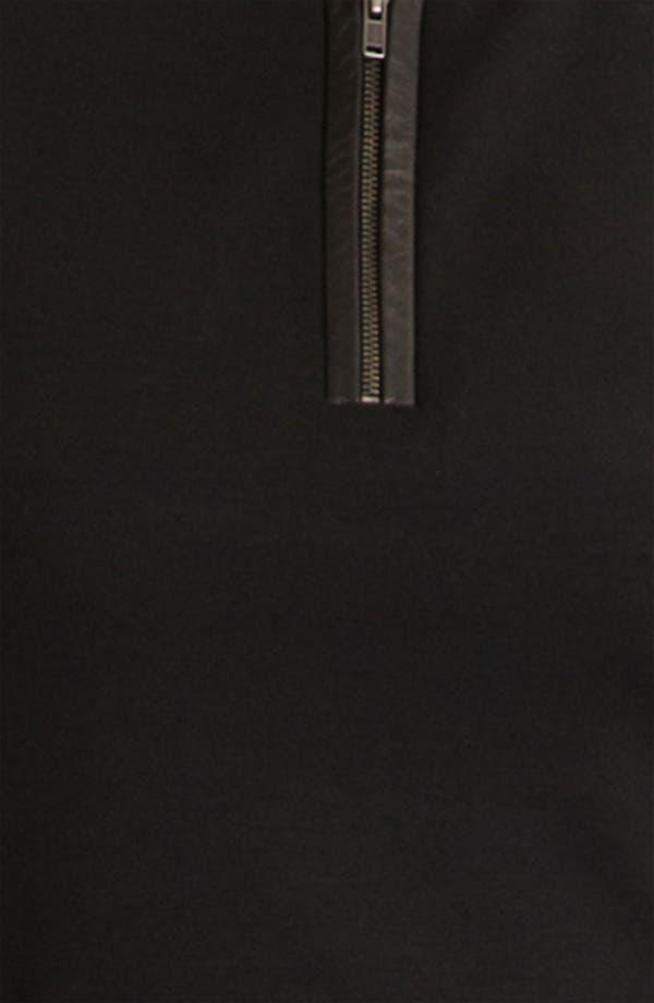 Alternate Image 3  - Classiques Entier® 'Pezza' Leather Trim Ponte Top
