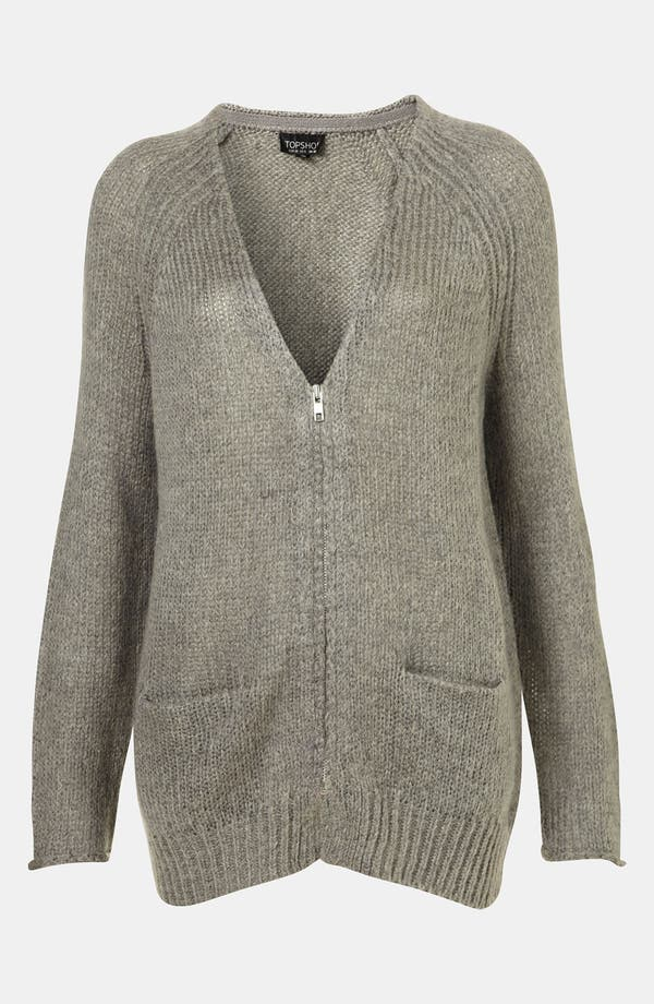 Alternate Image 1 Selected - Topshop 'Lulu' V-Neck Cardigan