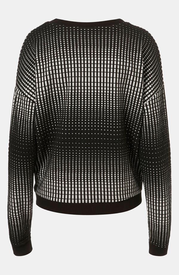 Alternate Image 2  - Topshop 'Grid' Sweatshirt