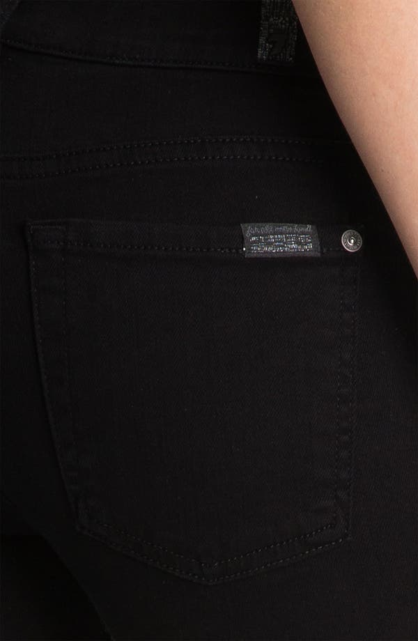 Alternate Image 3  - 7 For All Mankind® 'The Slim Cigarette' Stretch Jeans (Black)