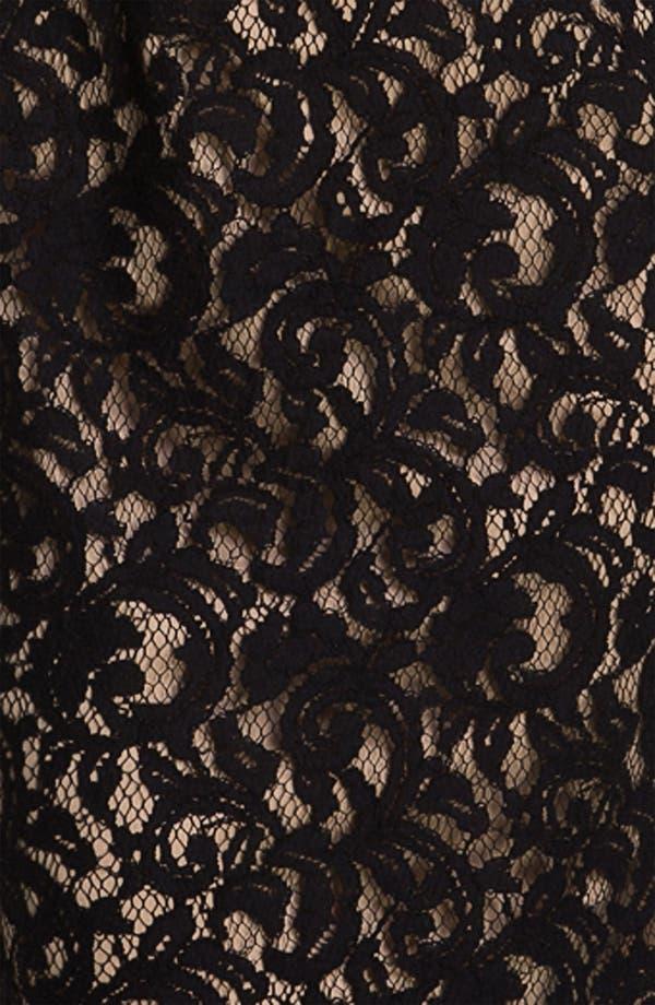 Alternate Image 3  - Adrianna Papell Embroidered Lace Overlay Sheath Dress (Regular & Petite)