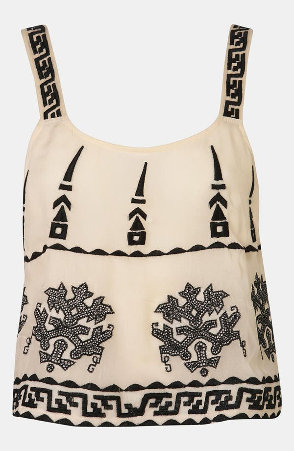 Alternate Image 1 Selected - Topshop 'Aztec' Embroidered Camisole