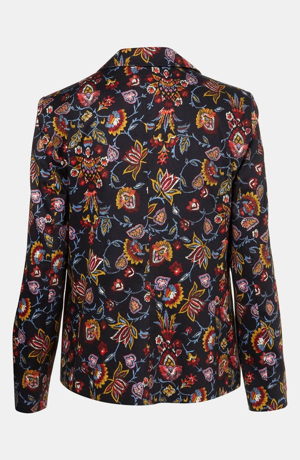 Alternate Image 2  - Topshop Tapestry Print Open Front Blazer