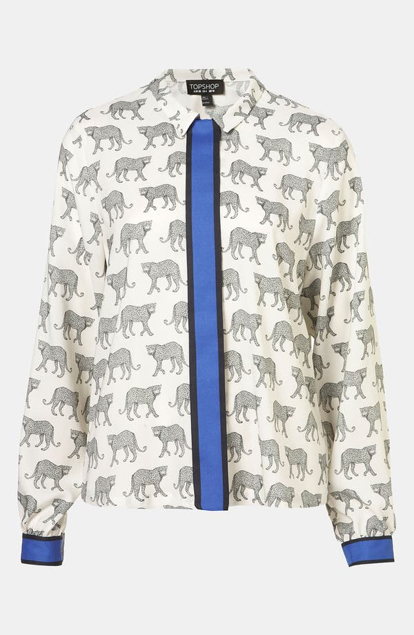 Alternate Image 1 Selected - Topshop 'Cheetah' Shirt