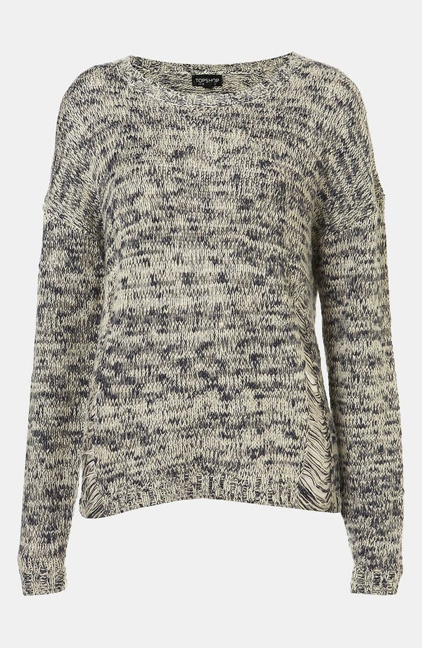 Alternate Image 1 Selected - Topshop 'Tweedy' Drop Stitch Sweater