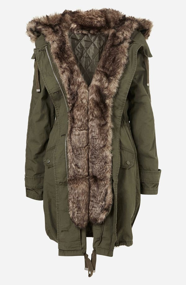 Alternate Image 5  - Topshop 'Benny' Faux Fur Trim Parka