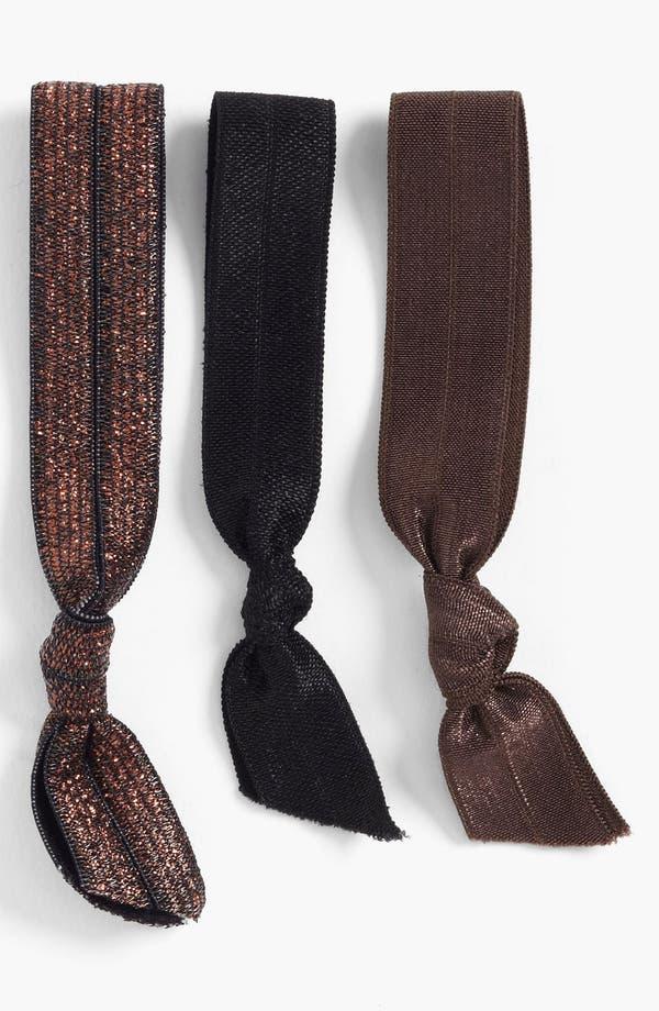 Alternate Image 1 Selected - Emi-Jay 'Copper Glitter' Hair Ties (3-Pack)