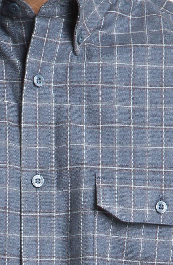 Alternate Image 3  - Nordstrom Regular Fit Cotton Flannel Shirt
