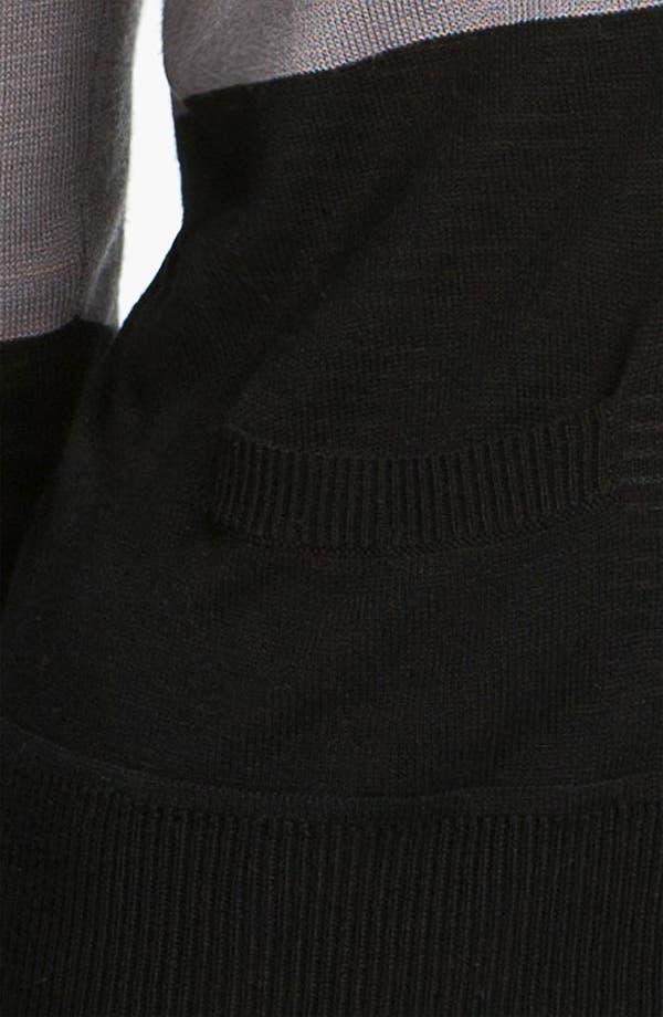 Alternate Image 3  - Halogen® Colorblock V-Neck Cardigan (Petite)
