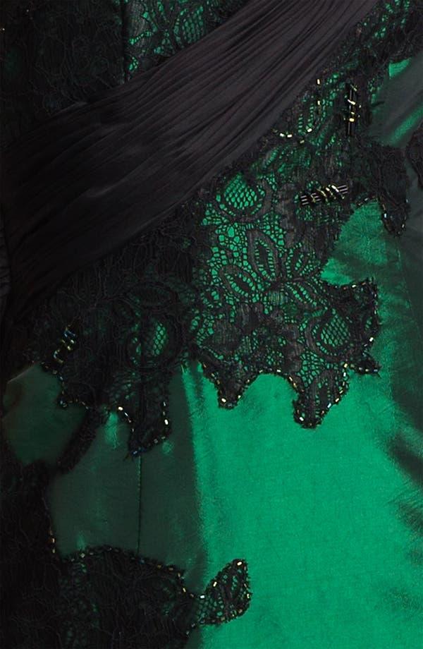 Alternate Image 3  - Alberto Makali Embellished One Shoulder Taffeta Trumpet Gown